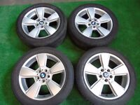 "BMW X3 18"" ALLOY WHEELS WITH TYRES ( OUR REF 040 )"