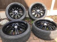 "Alloy Wheels 18"" gloss black 5x110"
