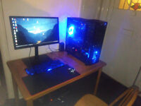 """6 CORE AMD,ASUS MOBO,COOLERMASTER CASE AND COOLER,16GIG RAM,24""""SAMSUNG MONITOR,ASUS HD7770,650W PSU"""