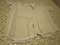 Beaming Baby Organic cotton wrapover bodysuits 12-18months, as new (x2)