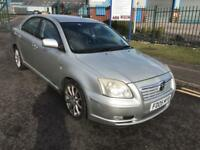 toyota avensis 2005 05 plate 1.8 vvti t sprit 5 door hatchback service history mot leather seats