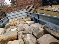 Reclaimed sandstone blocks