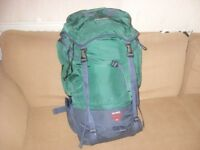 KARRIMORE BLACK/GREEN 65 L BACKPACK VGC Karrimore 65 L Backpack