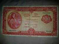 £20 banknote lady lavery 1973