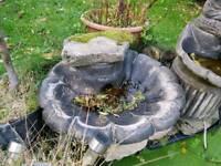 Garden trough bird feeder