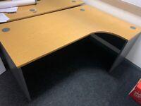 1800 beech right hand corner desk
