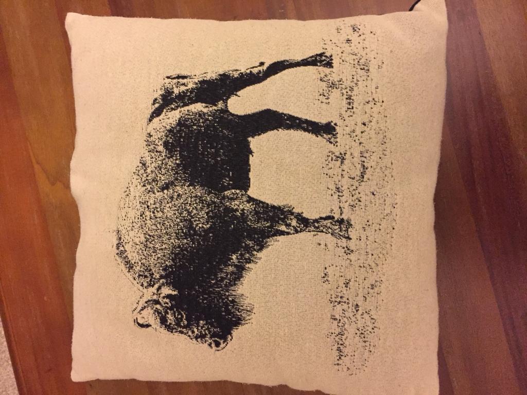 Hm buffalo print cushion