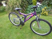 LOVELY UNIVERSAL VENUS FULL SUSPENSION LADIES OR GIRLS BIKE SERVICED NR MINT