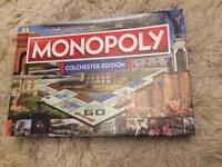 Monopoly Colchester Edition unused New