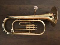 Baritone Horn: Amati Kraslice ABH 221 brass instrument tuba euphonium French trumpet corner trombone
