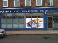 We have one trainee position for a dental nurse in our lovely private practice in Mill Hill East