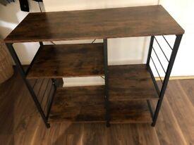 Kitchen Storage table/shelving unit