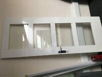 Internal Door - White - 4 glass panels