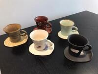 Japanese Pottery cups and plates