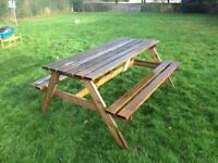 Wooden pub table