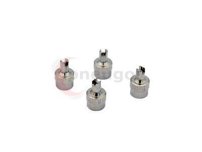 pneugo!® 4 x Ventilkappen Metal mit Ventilschrauber VG8 Dichtung Kappen