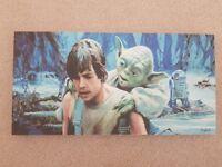 Star Wars Luke Skywalker Yoda wall mount gift idea painting