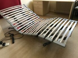 Swiss-made electrically powered fully adjustable medical/orthopedic single bed Swissflex SF575