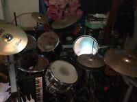 Black pearl drum kit