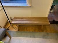 Habitat solid wood bench