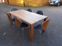 Ikea Djursta 180cm Dining Table & 6 Bentwood Leather/Chrome Chairs FREE DELIVERY 478