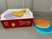 Working fisher price record player with all records