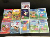 11 DVDs Peppa Pig, Dora the Explorer, and Double CD for children's Christmas Songs