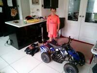 HEY GUYS JAYDEN HAS DECIDED TO SELL HIS QUAD HE NEVER RODE JUST BEEN SAT IN MY SHEd