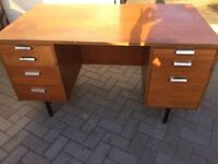 LARGE RETRO OFFICE DESK