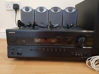 Onkyo TX-SR608 7.1 Home Cinema amp & Tannoy 5.1 speakers & subwoofer