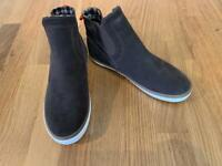 M&S Boys Suede Boots Size 13 - Brand New