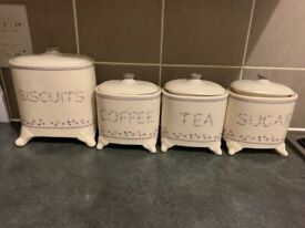 Tea coffee auger and Biscuit canisters
