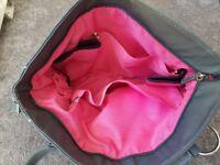 Leather change bag
