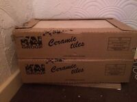 2 boxes of ceramic tiles