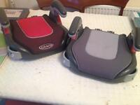 Two Graco Car Boosters seats