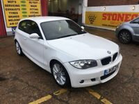 2008 BMW 118I M SPORT PETROL WHITE 6 SPEED MANUAL HPI CLEAR