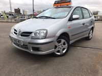 NISSAN ALMERA TINO 1.8, 5 DOOR HATCHBACK ONLY 1 OWNER FROM NEW