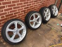 alloys wheels damaged with 235/35/19 Tyres