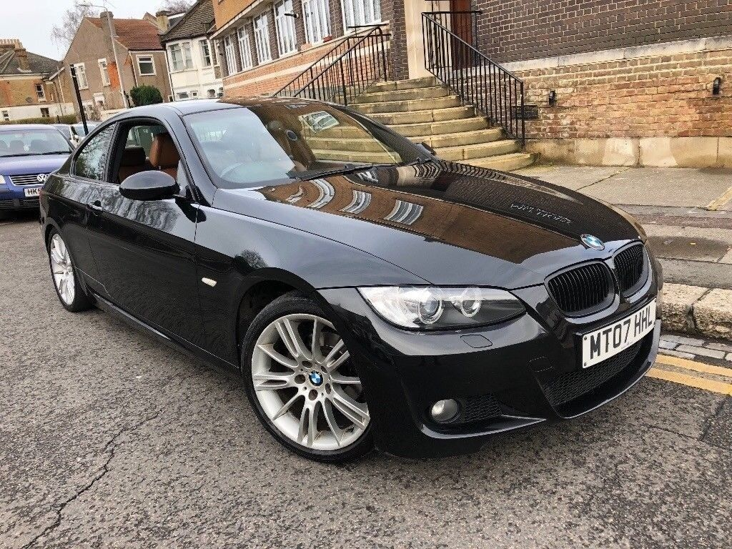 BMW 320I M SPORT 2007 COUPE MANUAL BROWN LEATHERS XENON LIGHT MINT FULL  HISTORY