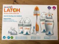 Munchkin Latch Newborn Bottle And Teats Starter Set BRAND NEW
