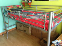 Metal frame midsleeper bed