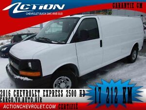 2016 CHEVROLET EXPRESS CARGO 2500 AUTO,AIR,V8