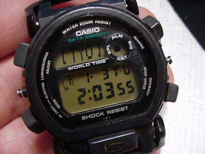 CASIO VINTAGE DIGITAL MEN WATCH G-SHOCK 2253 G-2200 DATA MEMORY ALARM WORLD TIME