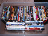 Joblot of dvds and books, perfect for a car boot sale.