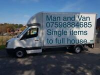 Man and van removal, house moving, house clearance, junk rubbish collection, furniture disposal