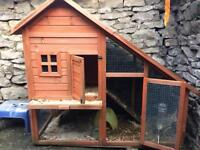 Guinea pig hutch good condition cover has a hew holes but keeps most of bad weather out.