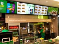 BREAD CABINET USED IN SUBWAY FRANCHISE