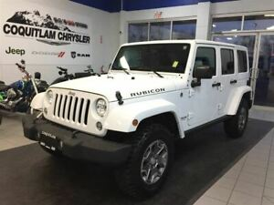 2016 Jeep Wrangler Unlimited Rubicon- LEATHER, NAV, ALLOY WHEELS