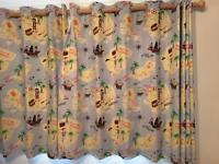 Laura Ashley thermal black lined childrens curtains