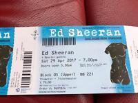 2 x ED SHEERAN TICKETS!!!